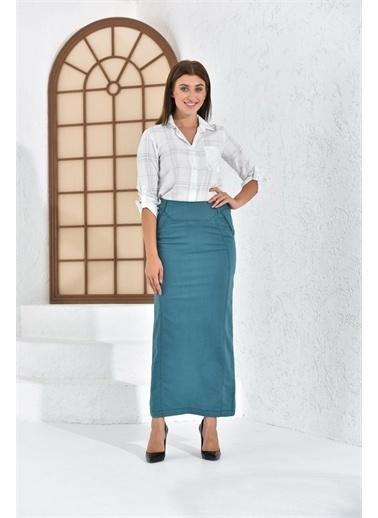 Rodi Jeans Kadın Gizli Cepli Uzun Etek Ty16Yb071804 Renkli